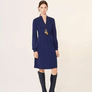 Tory Burch Valentina Navy Dress XS